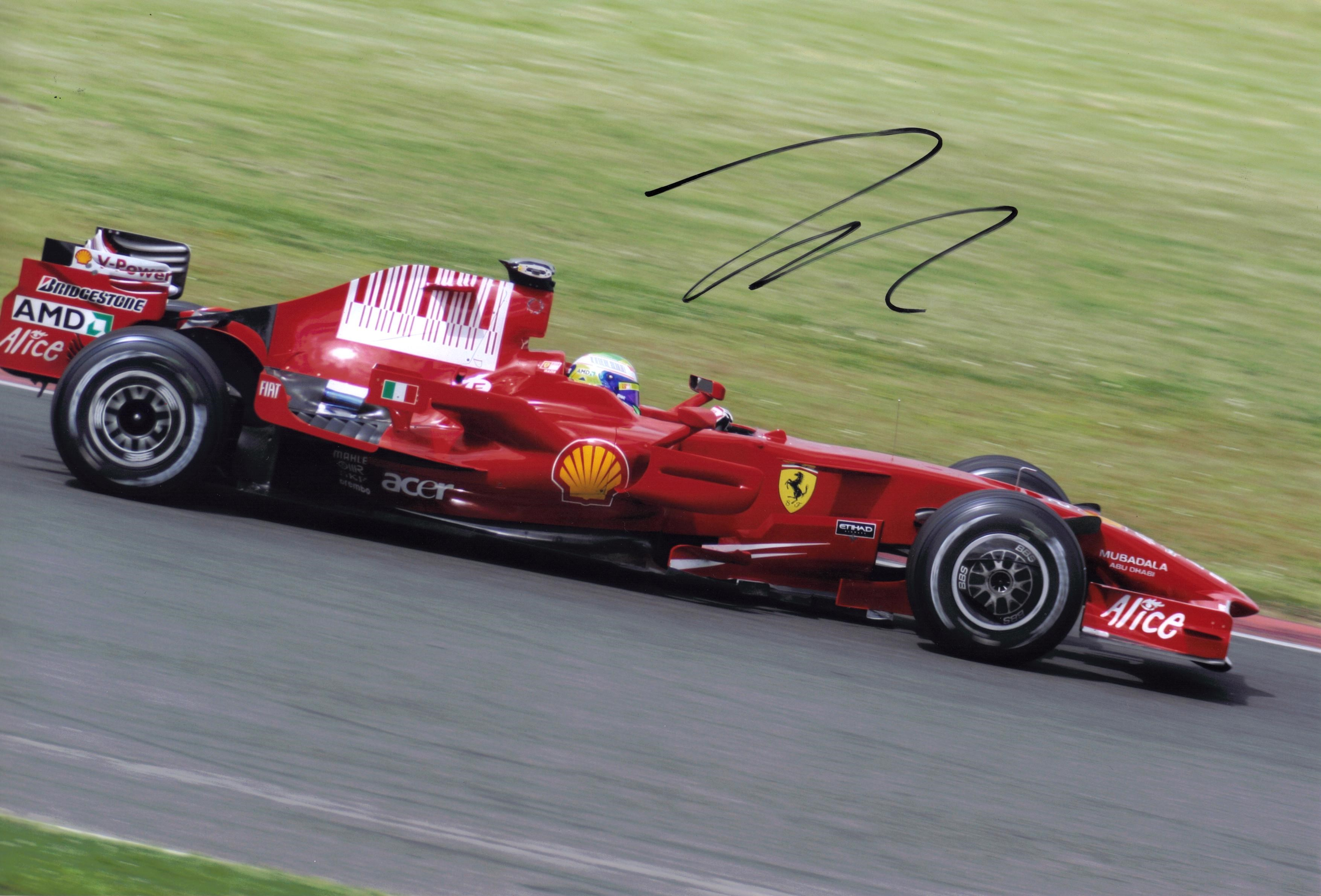 FELIPE MASSA SIGNED FERRARI PICTURE