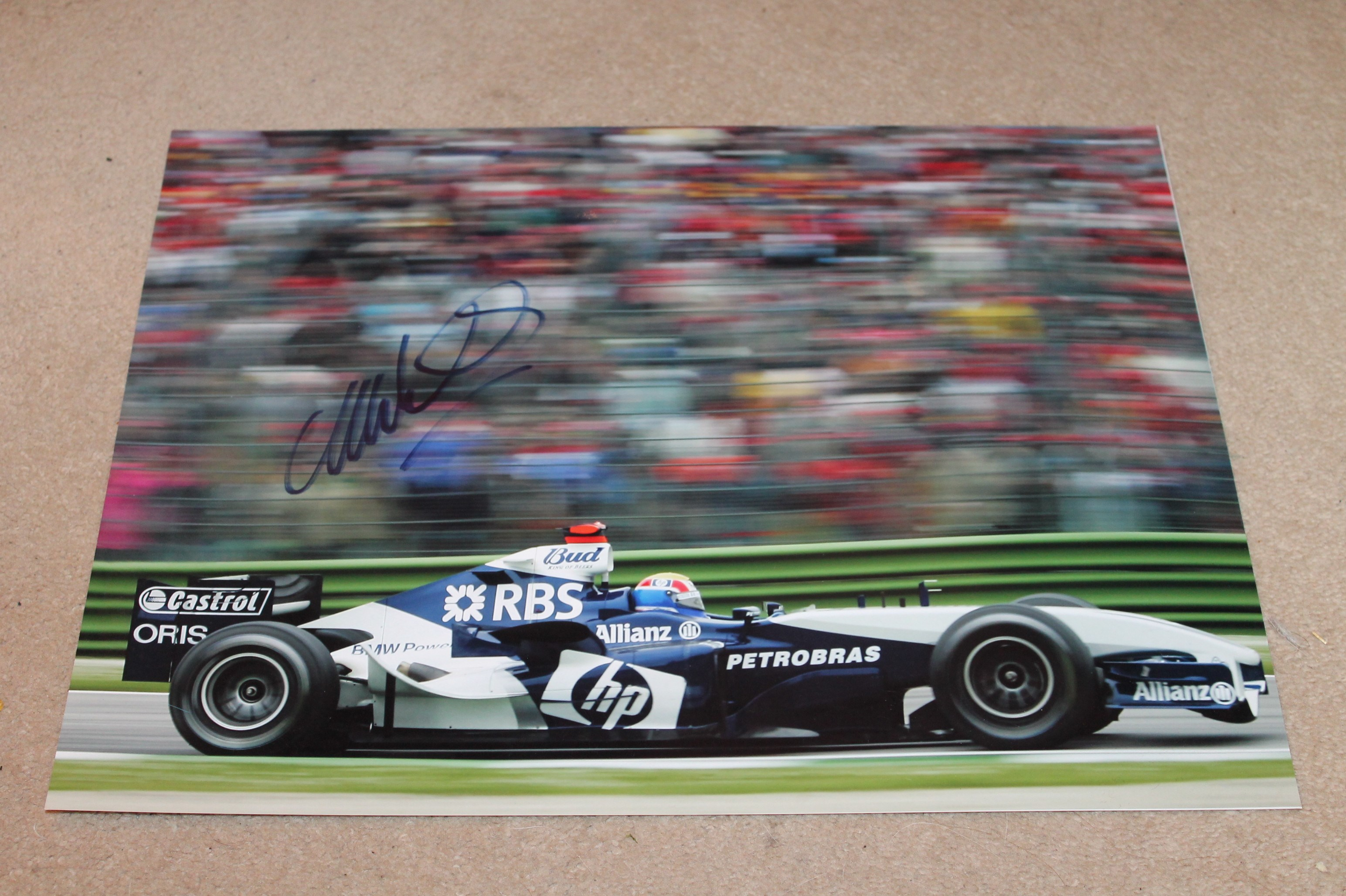 MARK WEBBER SIGNED WILLIAMS PICTURE