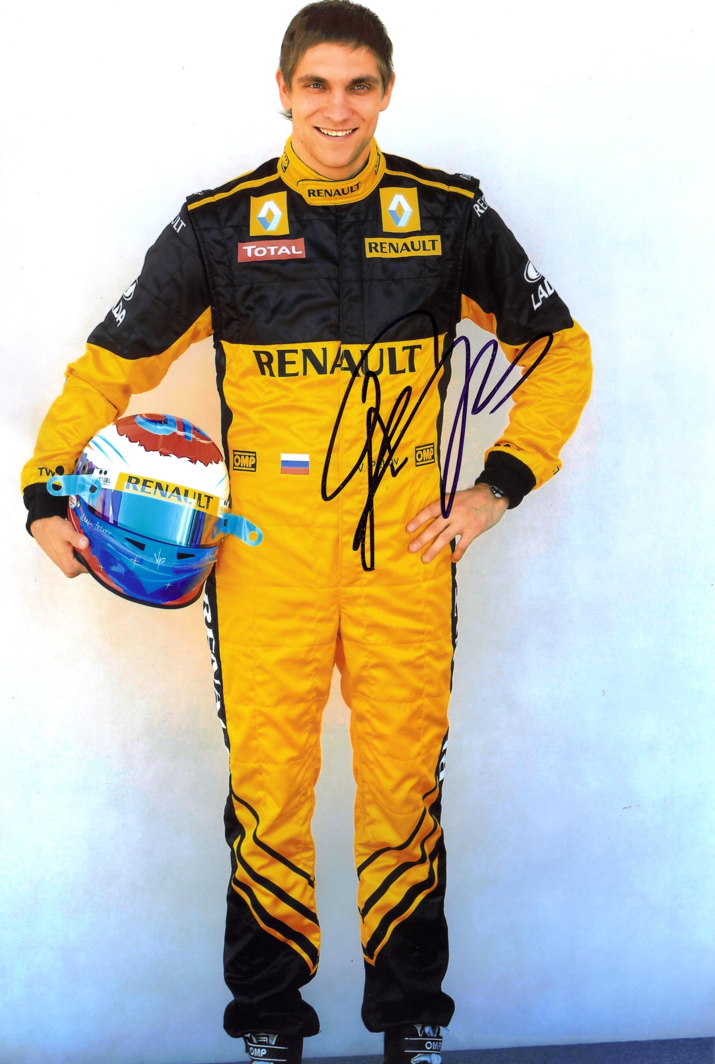 VITALY PETROV SIGNED  DRIVER PICTURE