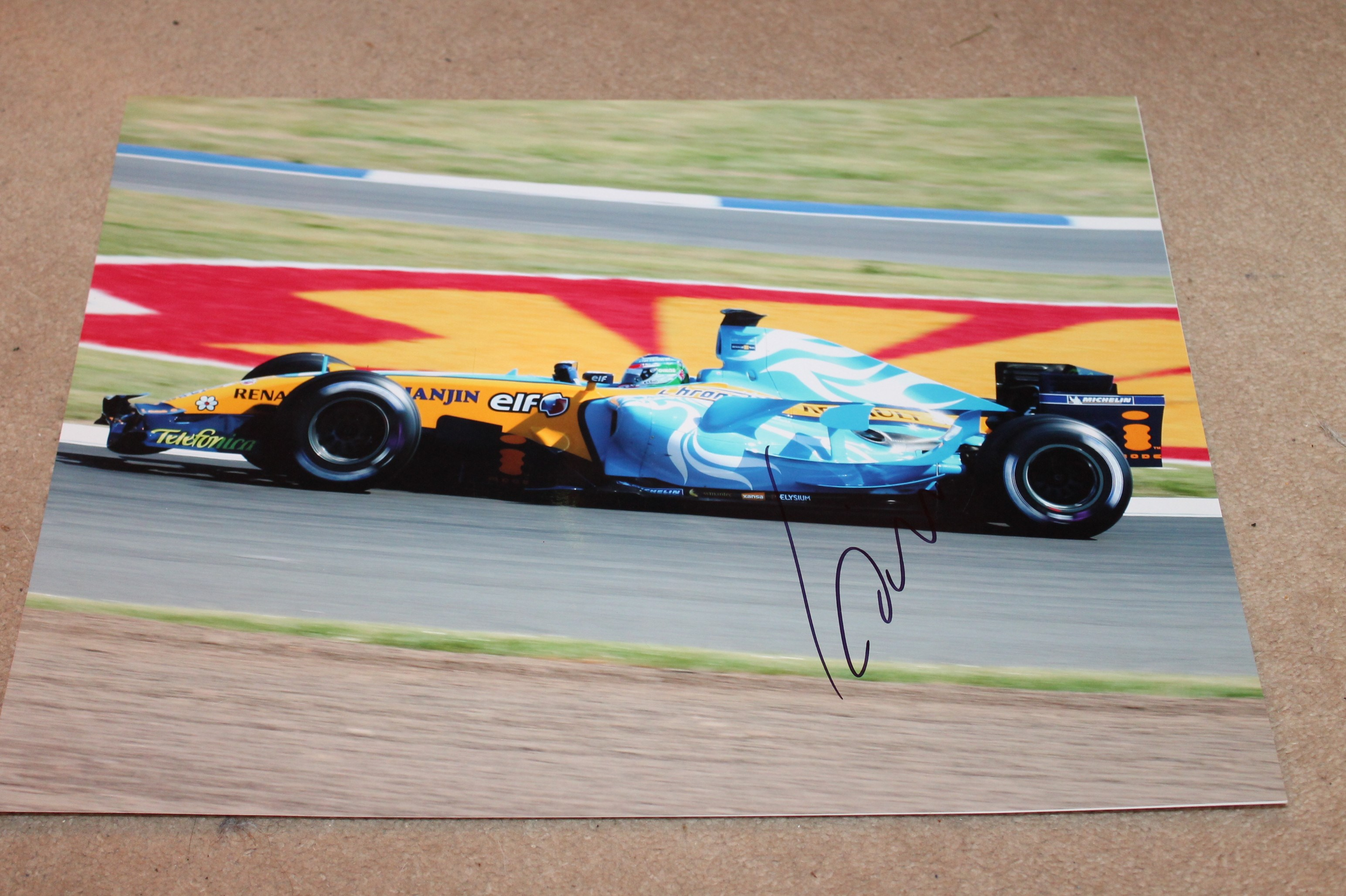G. FISICHELLA SIGNED RENAULT PICTURE