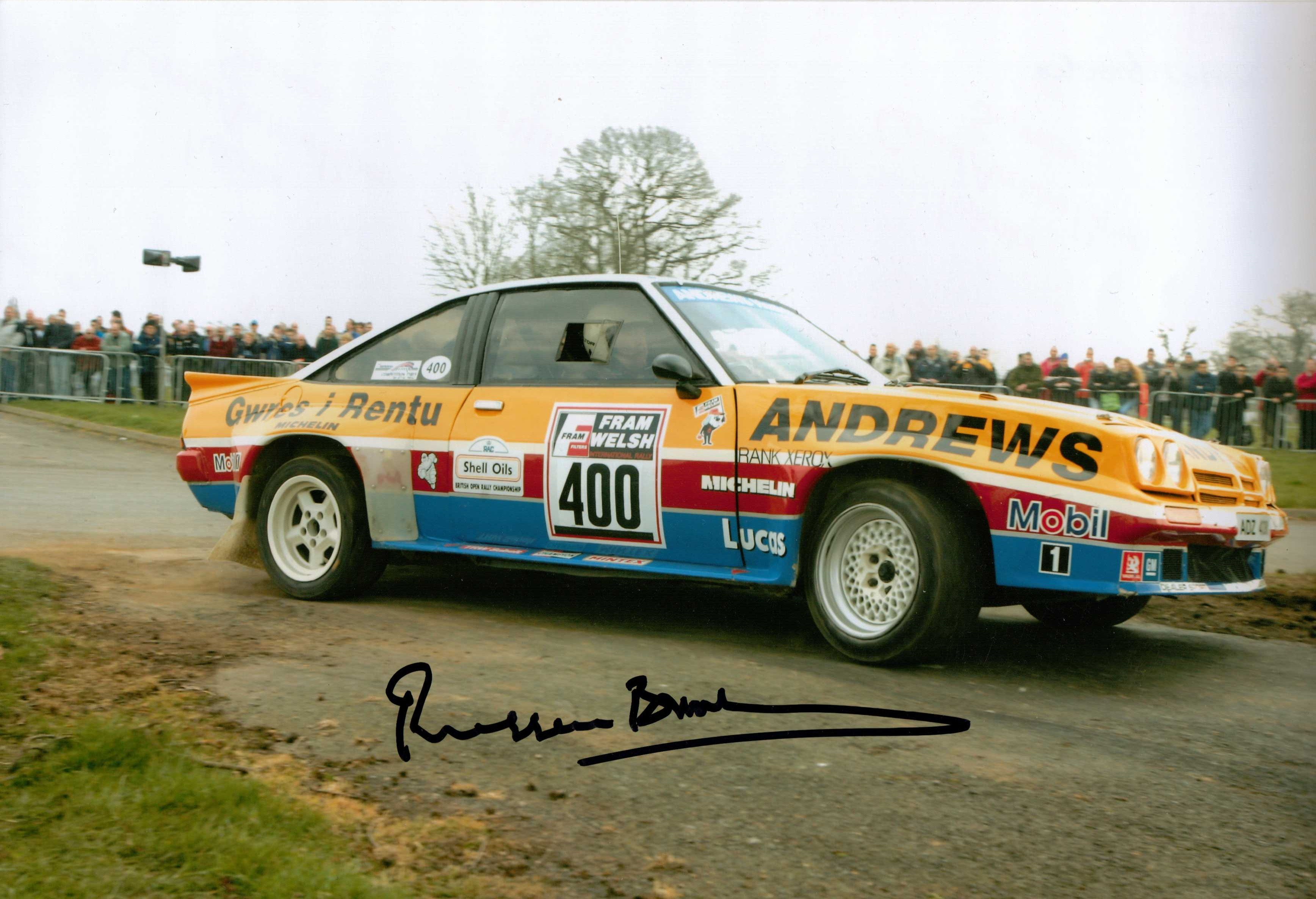 RUSSEL BROOKS SIGNED RALLY PICTURE